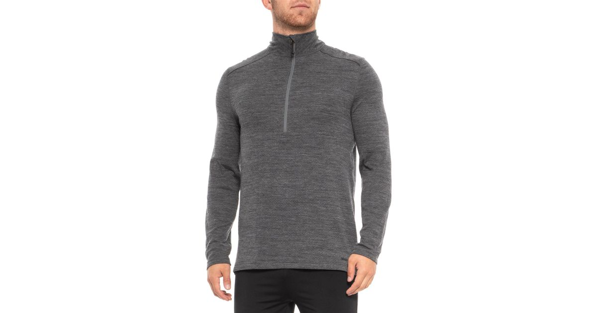 9216d19e52f Lyst - Terramar Woolskins Zip Neck Base Layer Top in Gray for Men