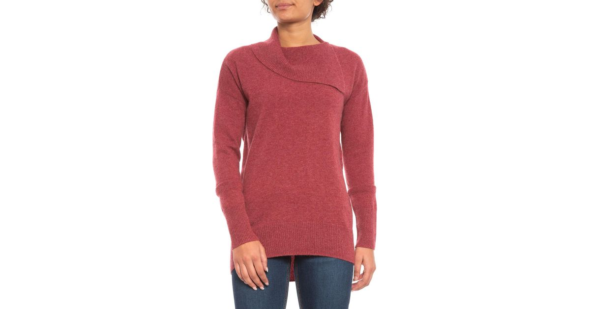 for Miller Split Nicole Red Sweater In Women Neck Lyst Cashmere BSHwqY