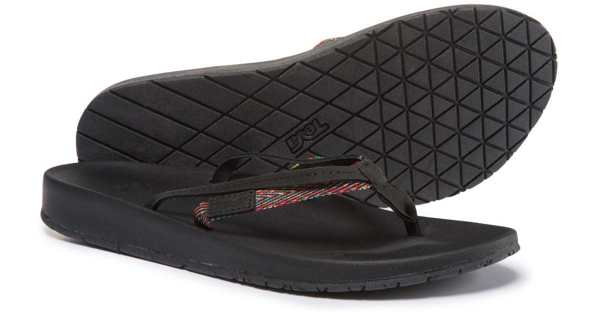 4f69a6cdac20 Lyst - Teva Azure 2-strap Flip-flops (for Women) in Black