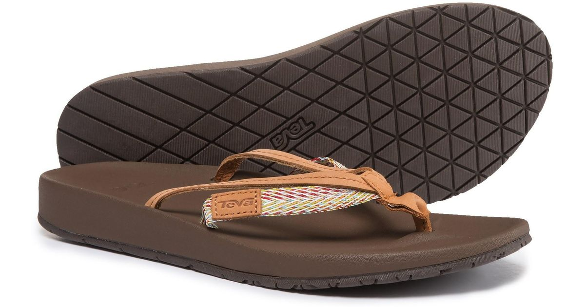 943055959 Lyst - Teva Azure 2-strap Flip-flops (for Women) in Brown