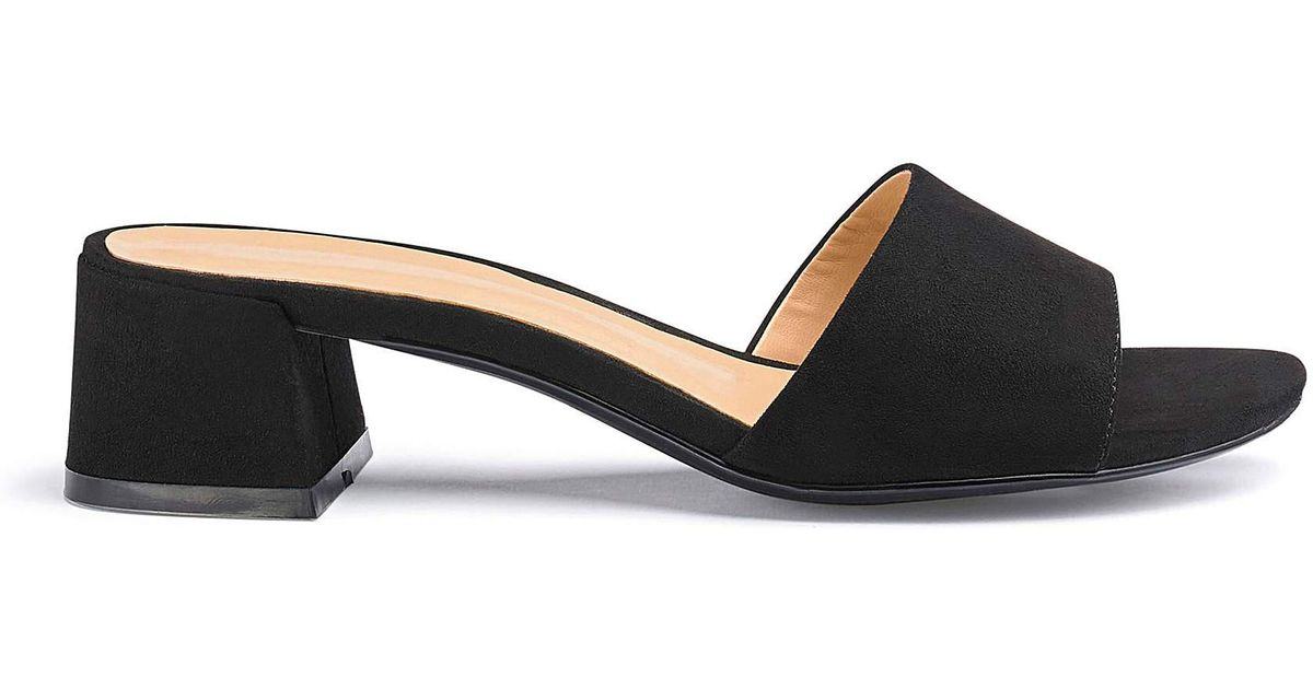 6599e11f248 Simply Be Athena Low Block Mule Extra Wide Fit in Black - Lyst