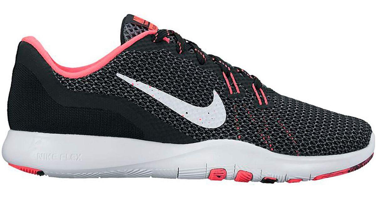 4be13a84ddaf Nike Flex 7 Fade Womens Trainers in Black - Lyst