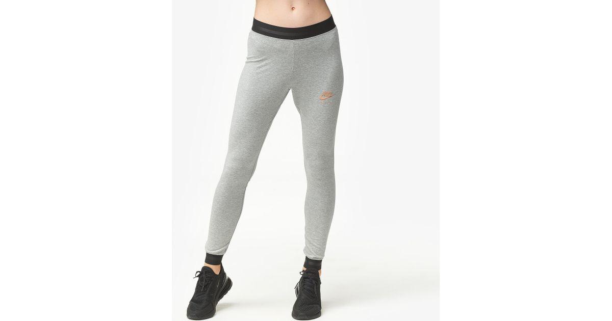 4b080814b0727 Nike Rose Gold Metallic Air Leggings in Gray - Save 46% - Lyst