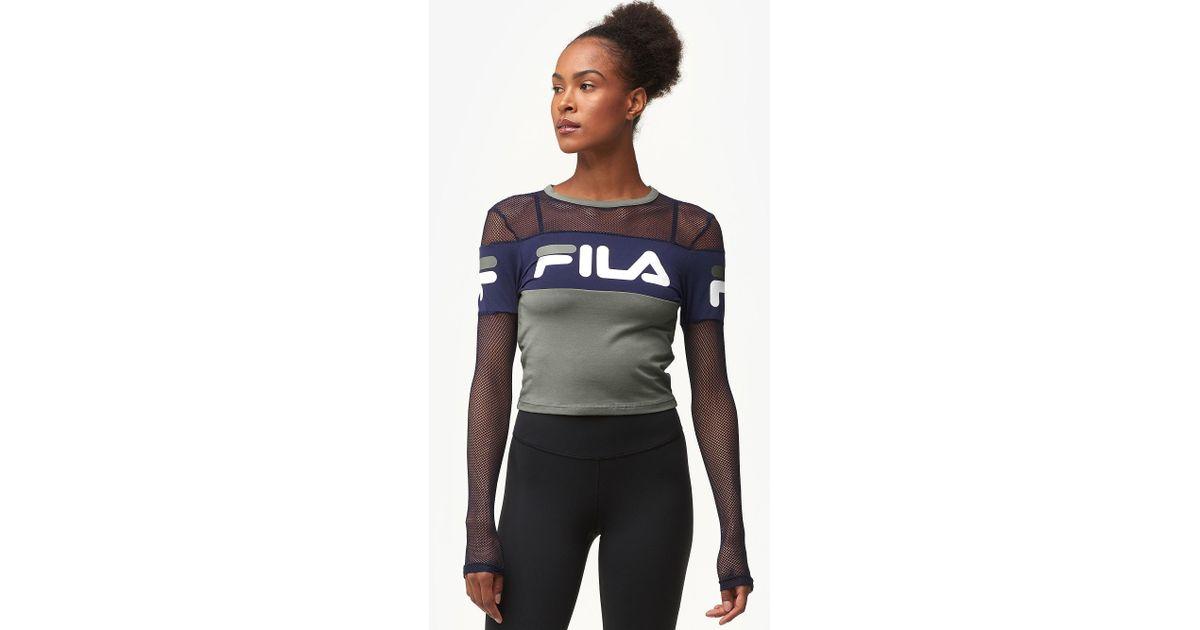 Lyst - Fila Tara Crop Long Sleeve Top dc92a4494