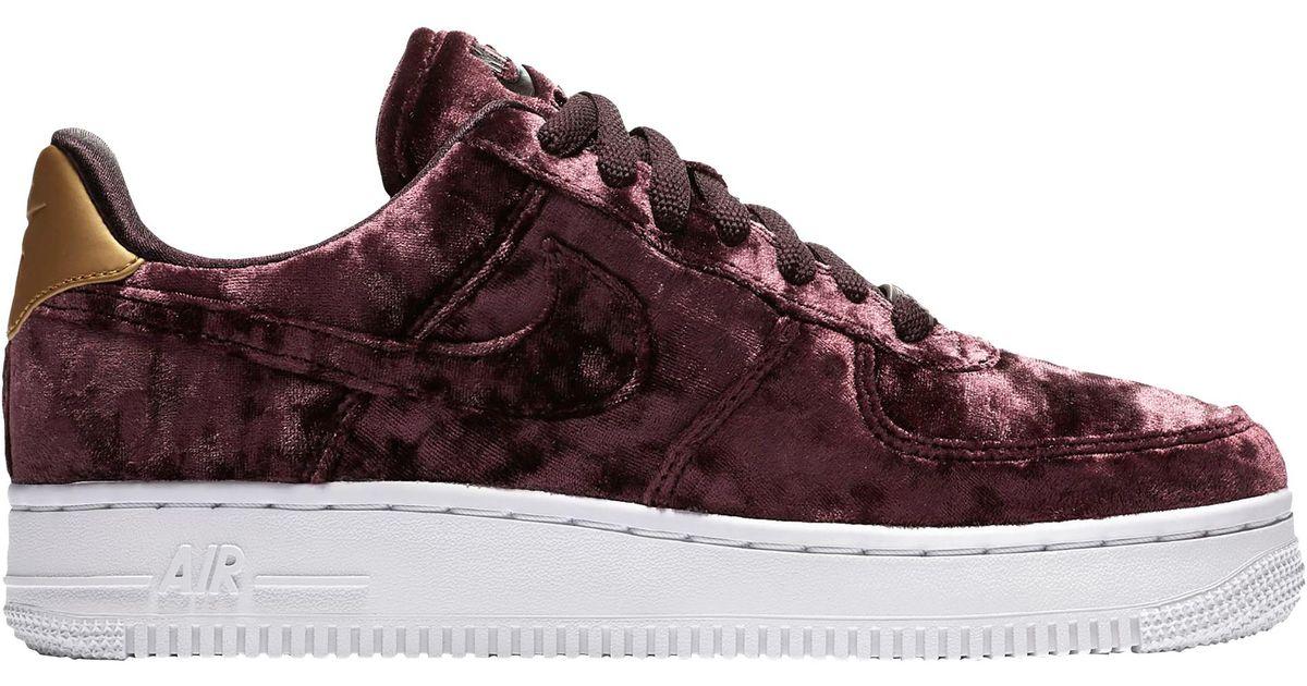sale retailer 9a274 8e3d1 Lyst - Nike Air Force 1 07 Premium Velvet