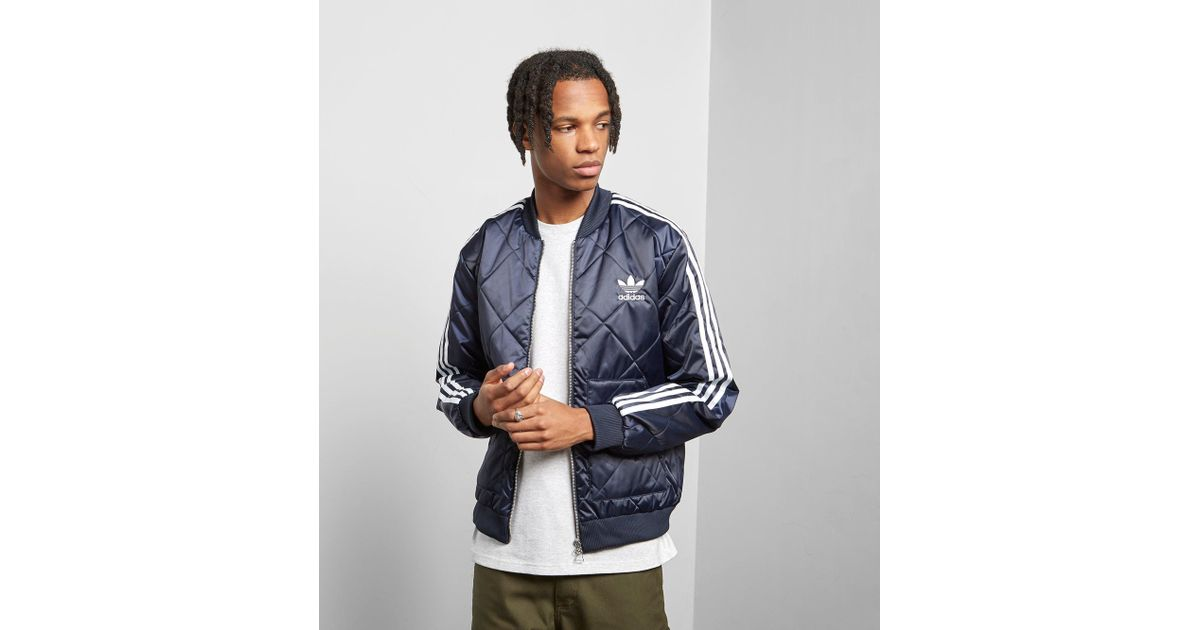 Adidas Originals Blue Sst Quilted Jacket for men