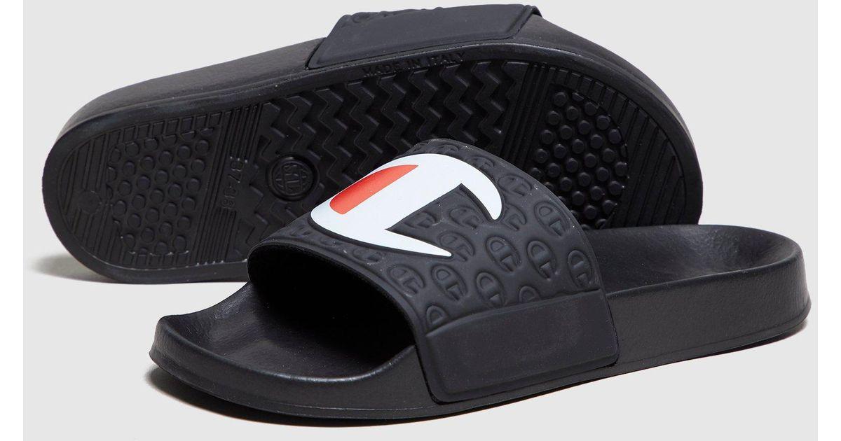 e6c75a44988 Lyst - Champion Slides Women s in Black