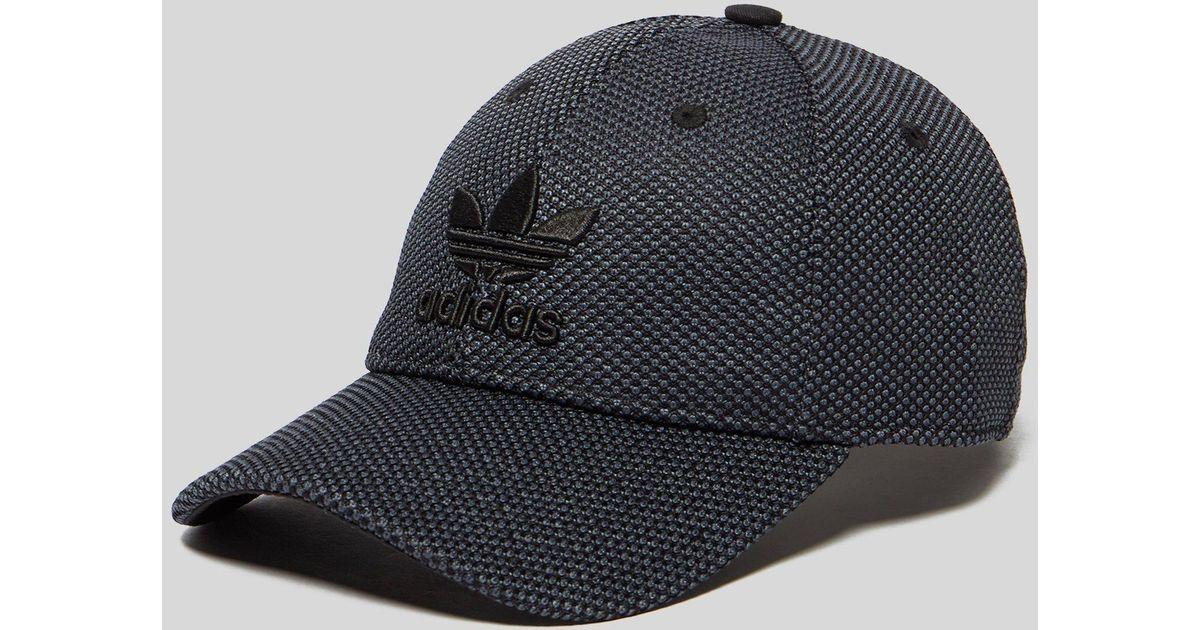 2a0d25216ddd2 adidas Originals Primeknit Trefoil Cap in Black for Men - Lyst