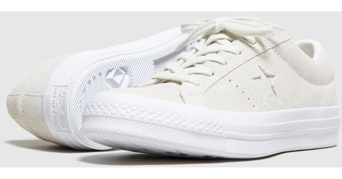 dc03f9abf8f0 ... reduced lyst converse one star suede womens in white 8e15c 55058