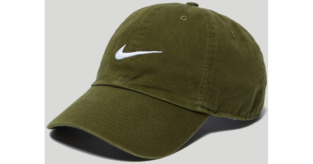699866b9dbfcb ... spain nike swoosh cap in green 546126 331 in green for men lyst 15e71  acb01