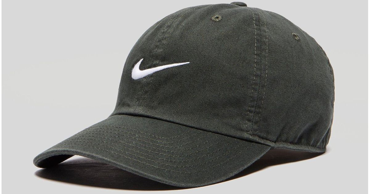 7b5d9cce Nike Heritage 86 Swoosh Cap in Green for Men - Lyst