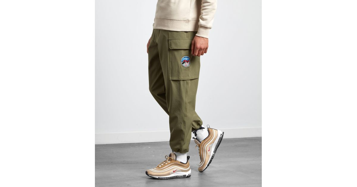shop for luxury genuine shoes great deals on fashion Fila Green Youla Cargo Pants - Size? Exclusive for men