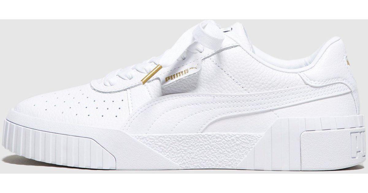 Lyst - PUMA Cali Women s in White 60cf16ebd