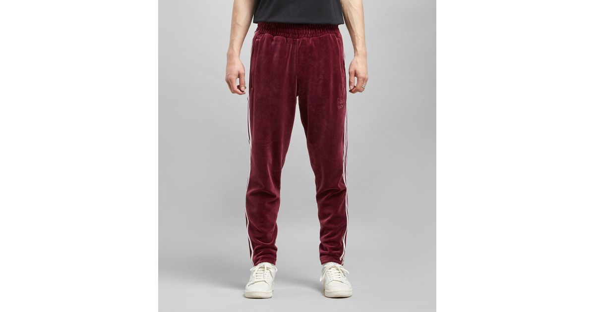 Lyst - adidas Originals Bb Velour Track Pants in Red for Men f993e8eafee
