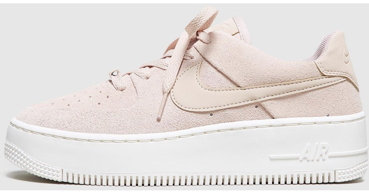259db2365562a8 Lyst - Nike Air Force 1 Sage Low Women s in Natural