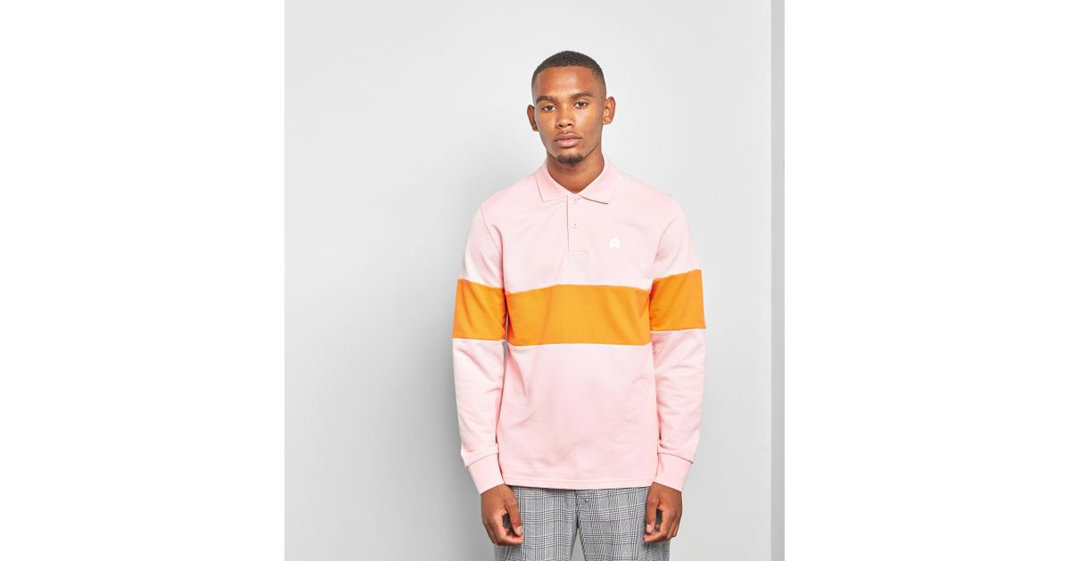 aedc3b4ee05a Lyst - Converse X Tyler Golf Le Fleur Long Sleeve Polo Shirt in Pink for Men
