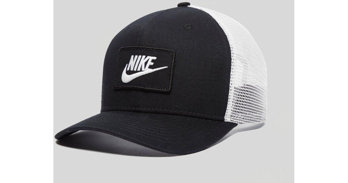 Nike Swoosh Trucker Cap in Black for Men - Lyst b4618a848dc