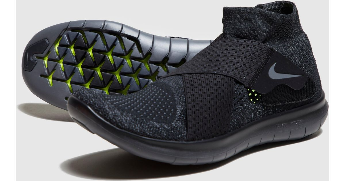 new concept 2df82 ad3d6 Lyst - Nike Free Run Motion Flyknit 2 in Black for Men