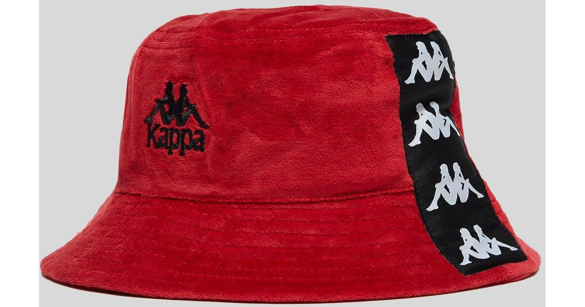 Kappa Ayumen Bucket Hat in Red for Men - Lyst 5851560dabe1