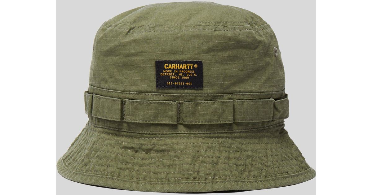 0dc5ab9a44a2d Carhartt WIP Military Bucket Hat in Green for Men - Lyst