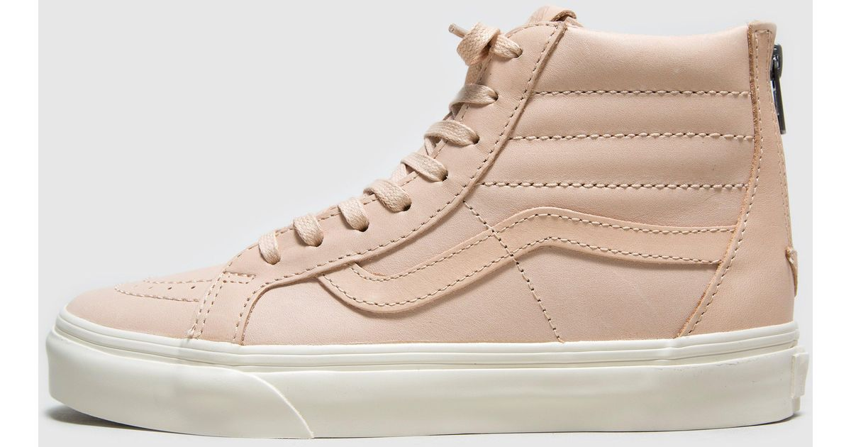 e46be39a57 Vans Sk8-hi Zip Dx Veg Tan Leather Women s in Pink - Lyst