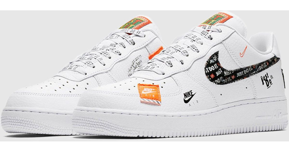 0e4adf44a6f0 Lyst - Nike Air Force 1  07 Premium  just Do It  Women s in White