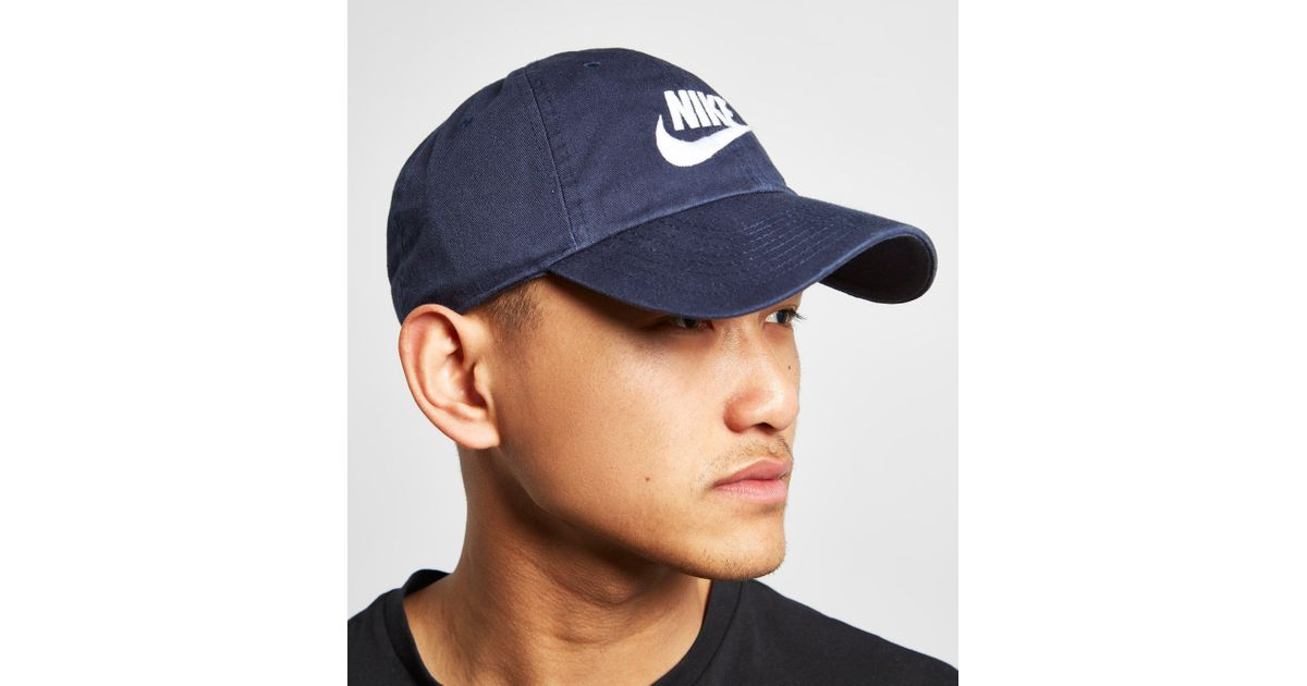 outlet store sale 9978d 65d15 Nike Futura Washed Cap in Blue for Men - Lyst