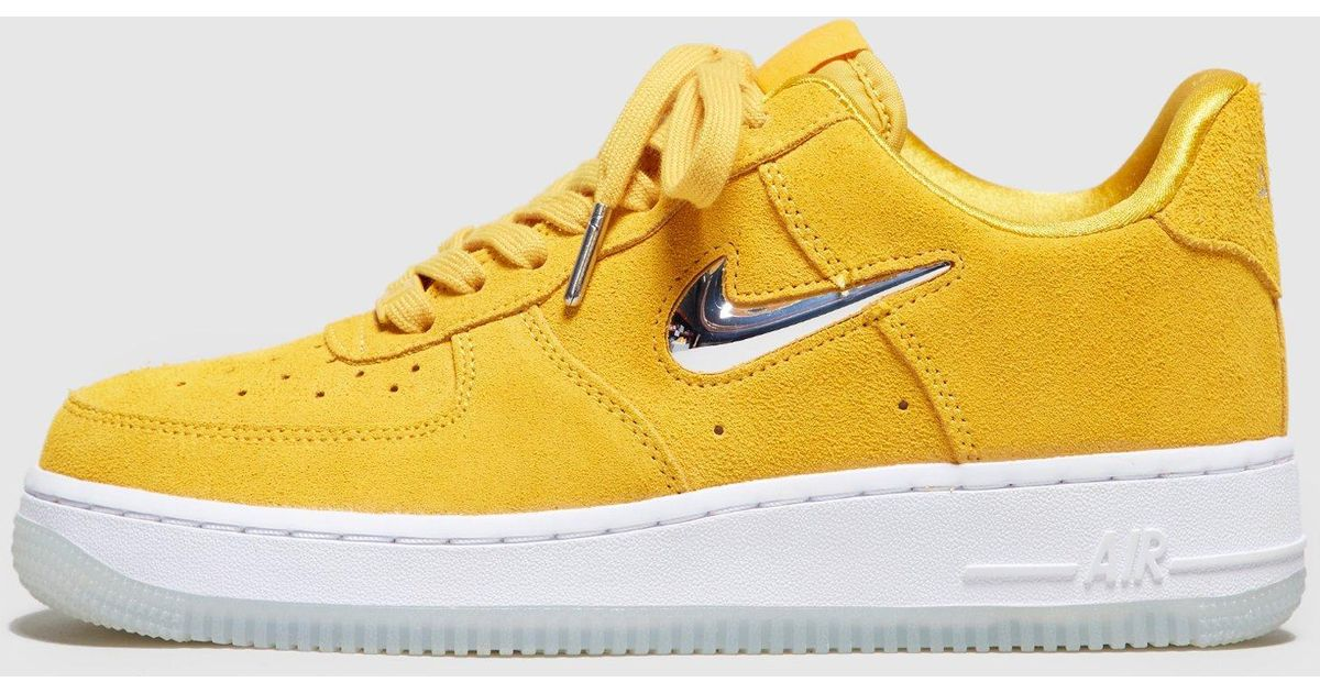 Lyst - Nike Air Force 1 Jewel Low Women s in Yellow 884eb0087