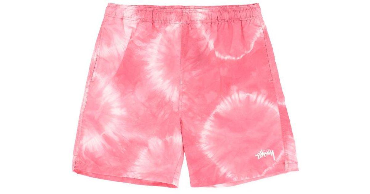 30c2d8df1c3bf Lyst - Stussy Tie Dye Swim Shorts in Pink for Men