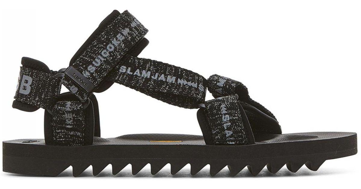 0cbb9b39afaf Lyst - Suicoke Slam Jam X X Beams Depa V2 Sandals in Black for Men