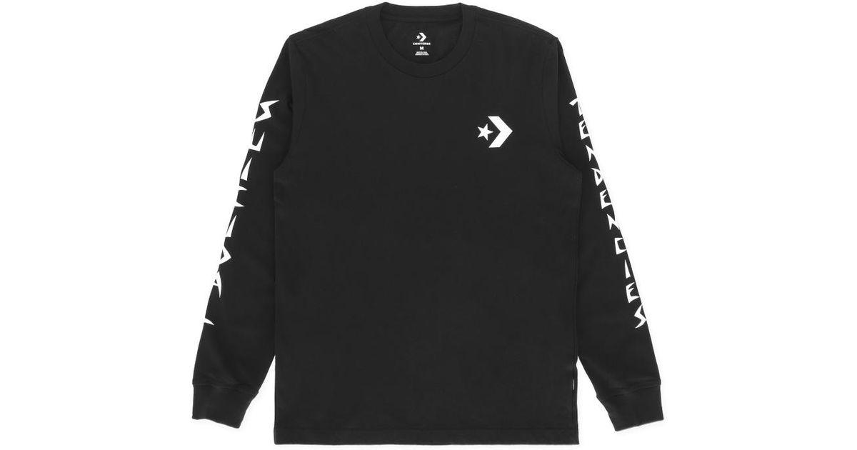 075d5fca83594f Converse Suicidal Tendencies Long Sleeves T-shirt in Black for Men - Lyst