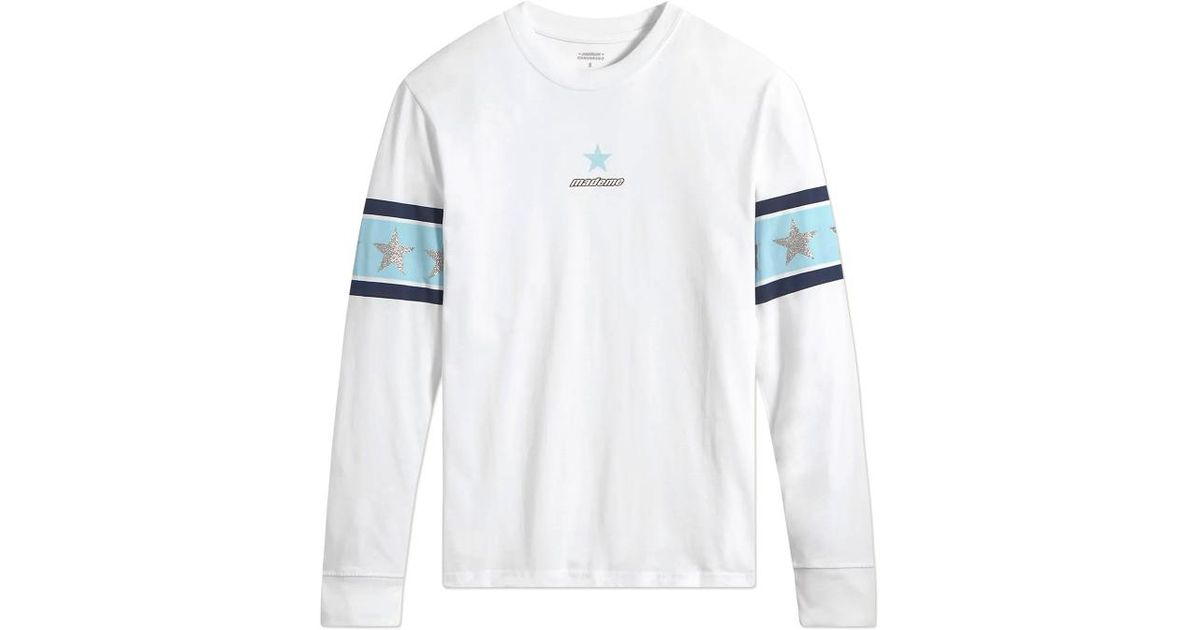 4b358aad Converse Wmns Mademe Long Sleeves T-shirt in White for Men - Lyst