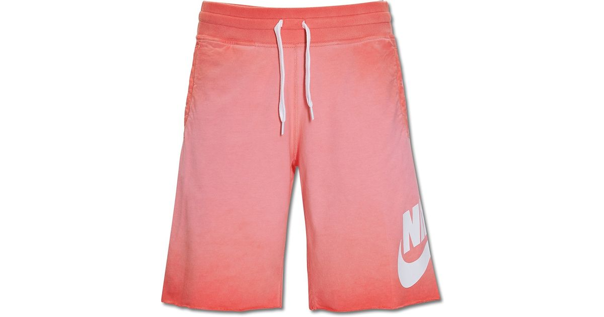 96ab6eb3b445 Lyst - Nike Alumni Solstice Shorts in Pink for Men