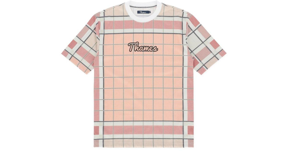 6a0445f1d0 Thames London Logo T-shirt in Pink for Men - Lyst