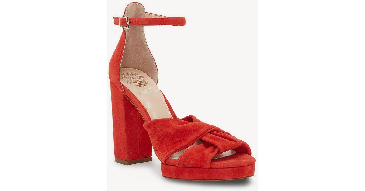 Vince Camuto Corlesta Knotted Platform Dress Sandals Women's Shoes 5W9EwjK8m