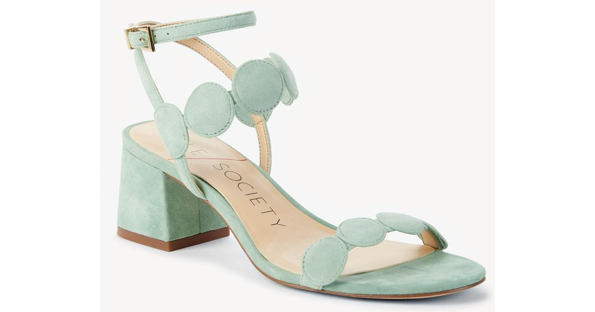 e3f595832666 Lyst - Sole Society Shea Strappy Heeled Sandal in Green