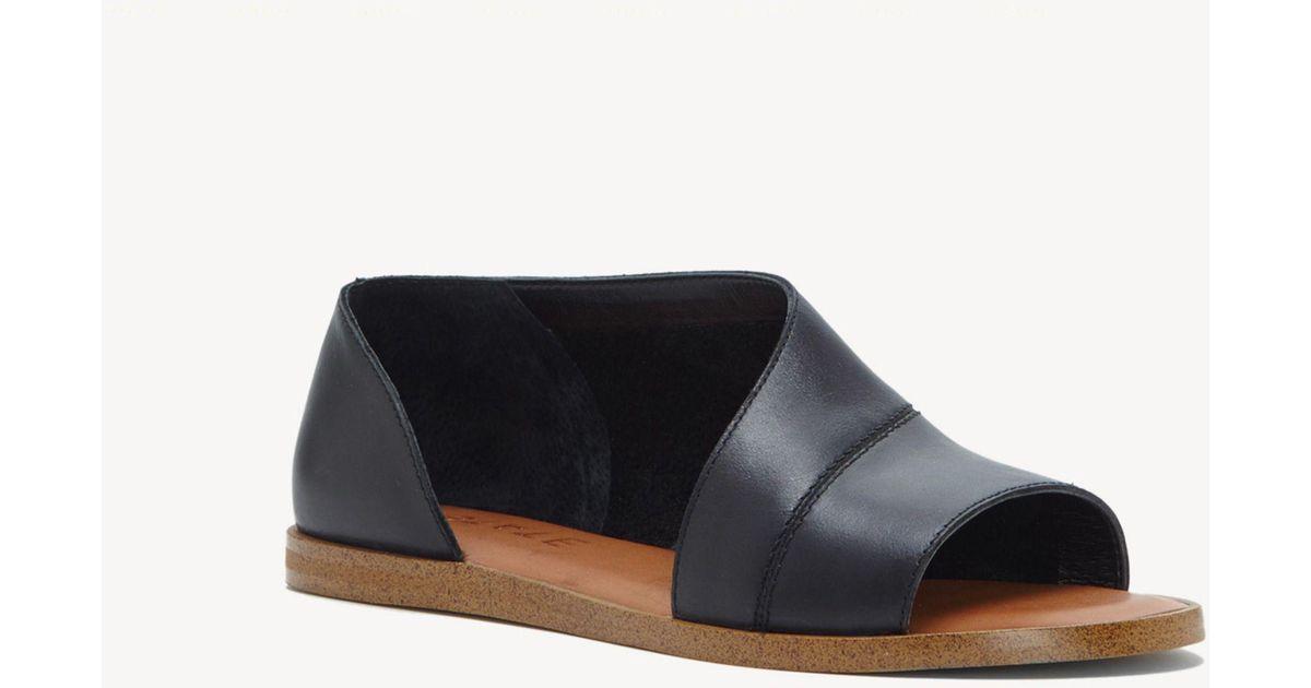 Cadwyn Leather Zipper and Stud Slide Sandals mKHomWOf2Q