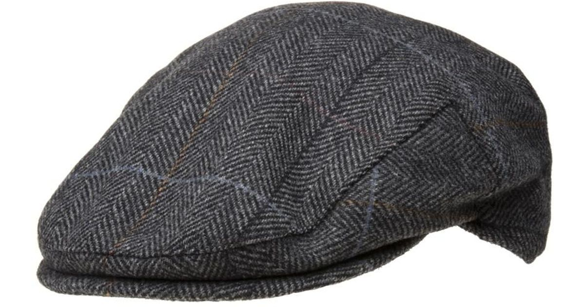 a778421b529 Barbour Charcoal Country Check Flat Cap in Gray for Men - Lyst
