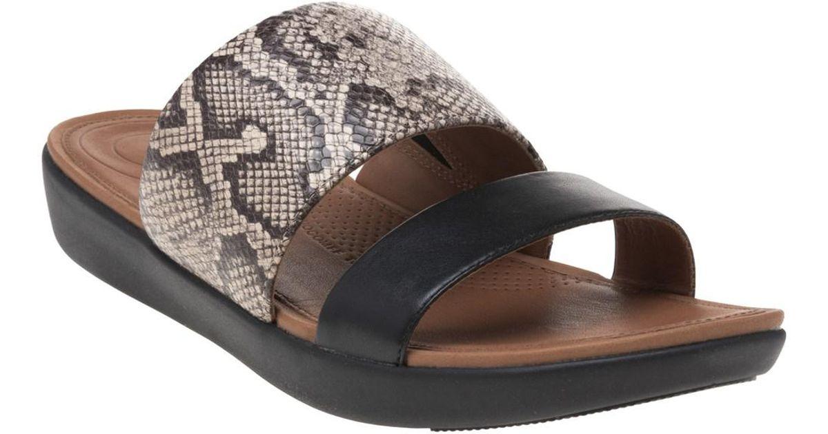 9662f17ce466 Fitflop Deltatm Slide Sandals in Black - Lyst
