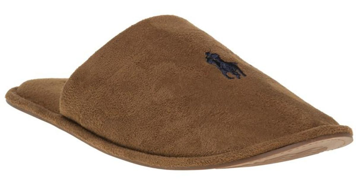 e2696aa97 Polo Ralph Lauren Sunday Scuff Slippers in Brown for Men - Lyst