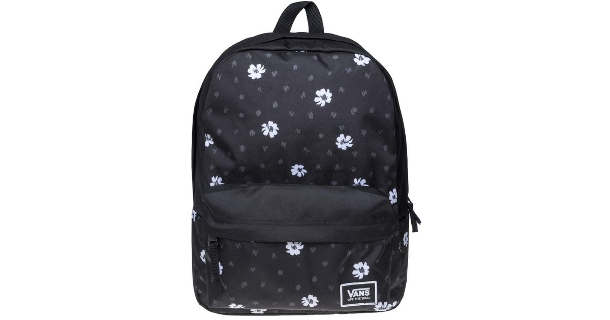 8de1994ed91 Vans Realm Daisy Backpack in Black - Lyst