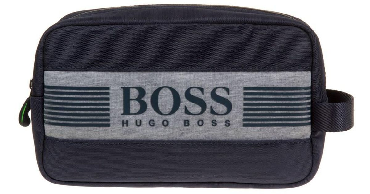Boss Pixel Wash Bag in Blue for Men - Lyst da8fb4f41d18f