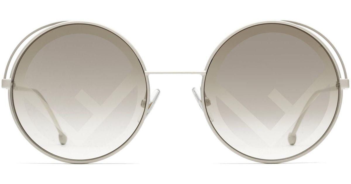 f742dc4b2eb9 Lyst - Fendi Ff 0343/s Round Sunglasses