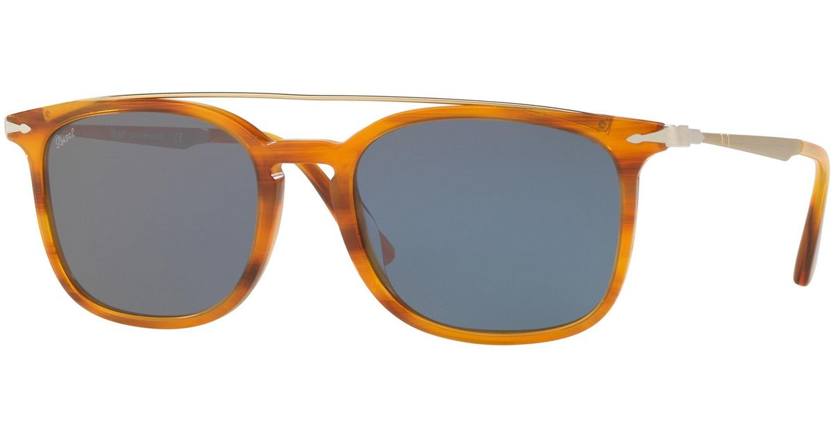 6032b09920 Lyst - Persol 3173s Round Sunglasses in Blue