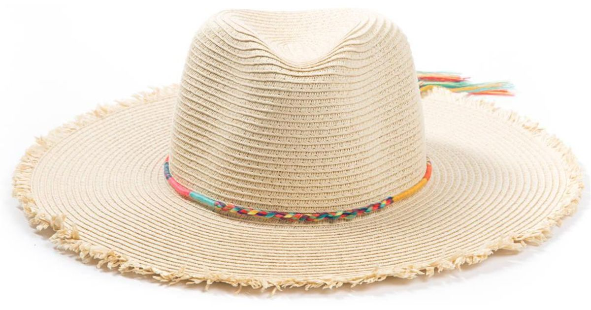 48b769a9407 Lyst - Anamá Magid Neon Rope Trim P Hat in Natural