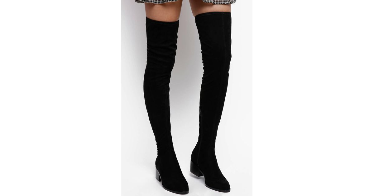 cbd7b8347a0 Lyst - Steve Madden Gabbie Over The Knee Boot With Stacked Heel in Black