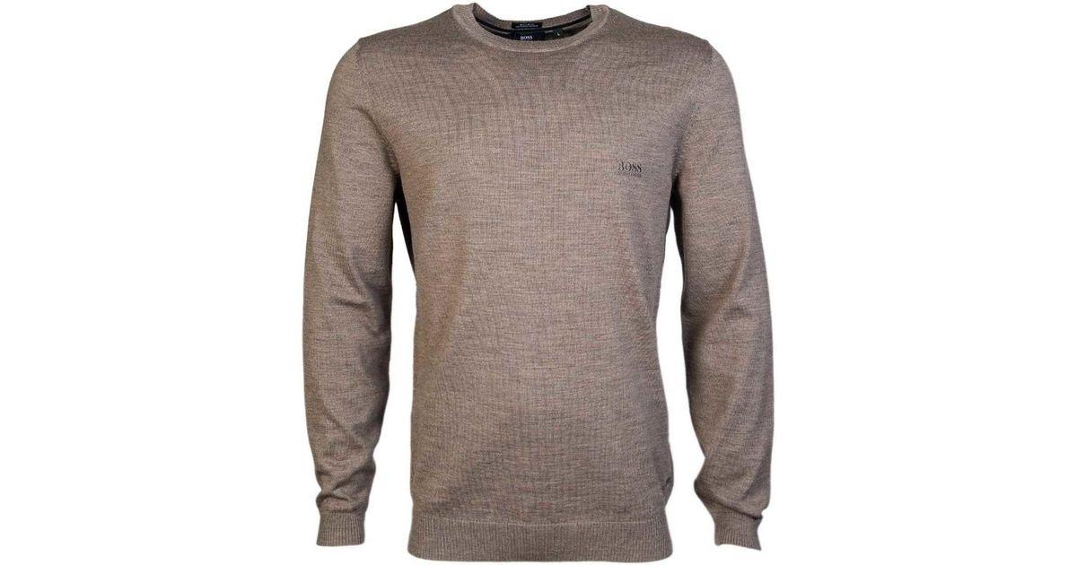 bc35db4ce BOSS Hugo Black Knitwear Jumper Bagritte B 50321387 Men's Sweater In Beige  in Natural for Men - Lyst