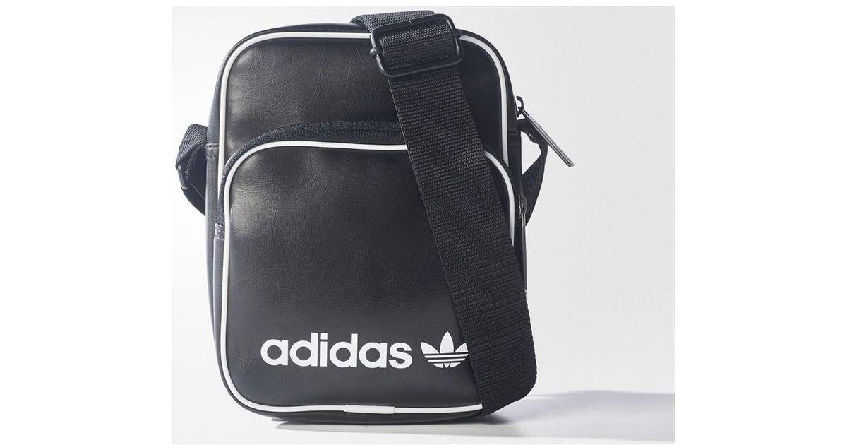 1e5d9f26c72a adidas Originals Mini Vintage Bag Men's Messenger Bag In Black in Black for  Men - Lyst
