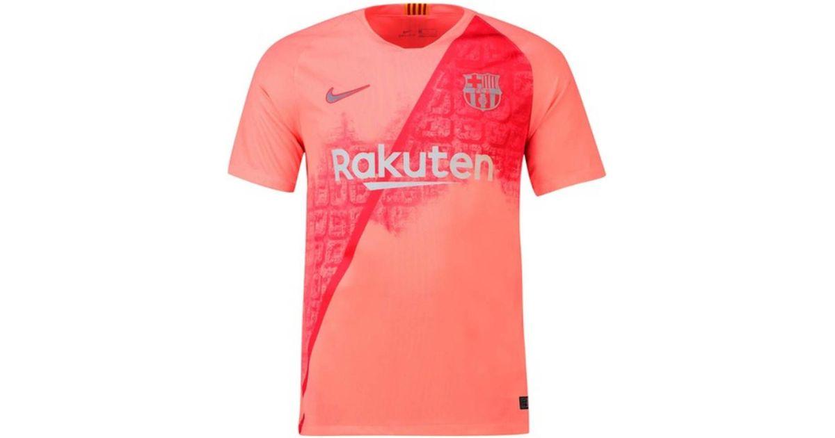 ... a512b f7671 Nike 2018-2019 Barcelona Third Football Shirt Mens T Shirt  In Pink in ... c994f6b04e48