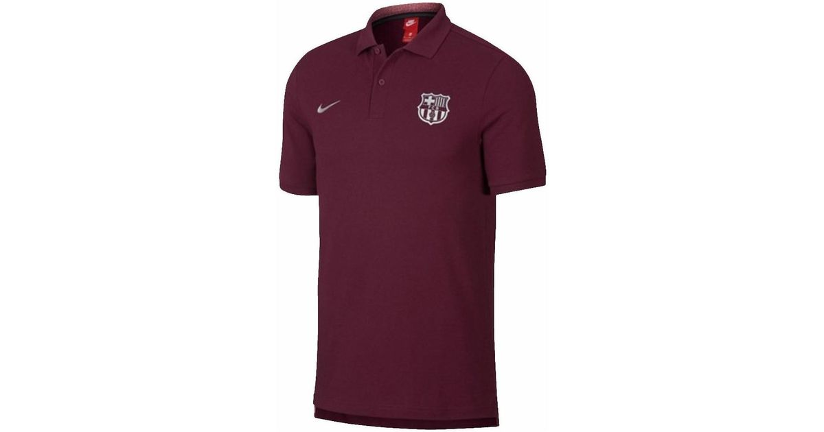 362b44db0fd Nike 2018-2019 Barcelona Core Polo Shirt (deep) Men s Polo Shirt In Red in  Red for Men - Lyst